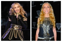 There was something about Madonna's thick gold ringlets at last night's Super Bowl halftime show that seemed familiar to us…