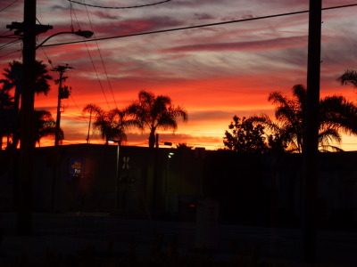 wordsbeyondreality:  Watching the sun rise again from a Cafe in Oxnard, California.