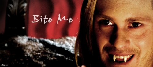 i-love-true-blood-fan-art:  Bite me by ~smvgrey