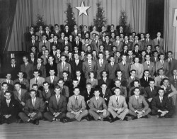 1949 Composite Photo from the Lambda Nu Chapter of Phi Gamma Delta The tall fellow in the back row, sixth from the left, would grow up to host a little television program called the Tonight Show. We've got our composite pictures tomorrow, it's fun to think who might be looking back on them years from now… Food for thought, T
