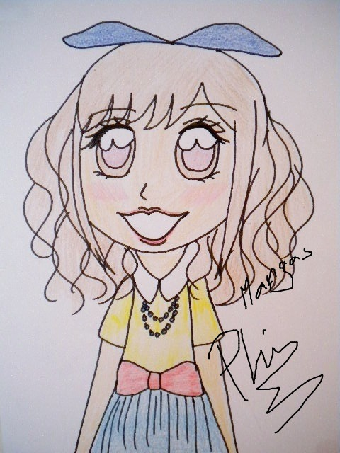 My chibi Gyaru manga. Signed by me (Phi). <3