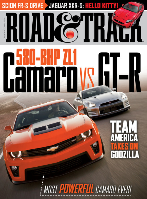 First look at the March 2012 cover of Road & Track magazine. (Source: Road & Track)