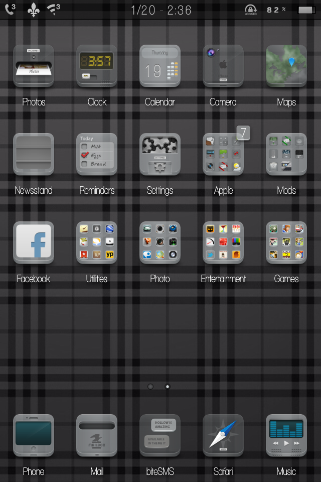 Finally set my iPhone up like I like it. Simple and clean.