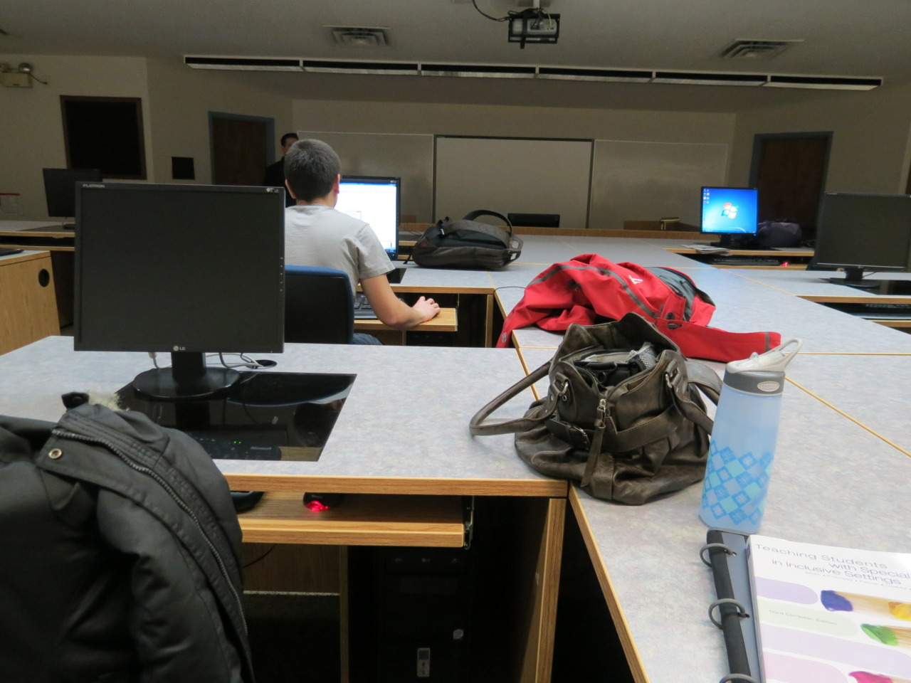 "This is my workstation during EDIT 350. Today, we had our last class! I can't wait to use what I learned and apply it to the ""real world"" aka… my own classroom."
