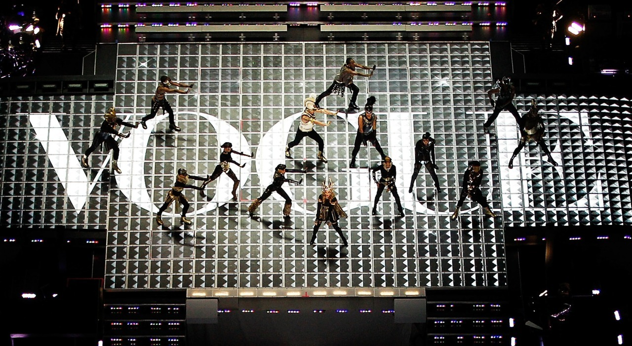vogue:  Madonna Performing at Super Bowl XLVIVisit Vogue.com for a look back at Madonna's appearances in the magazine.