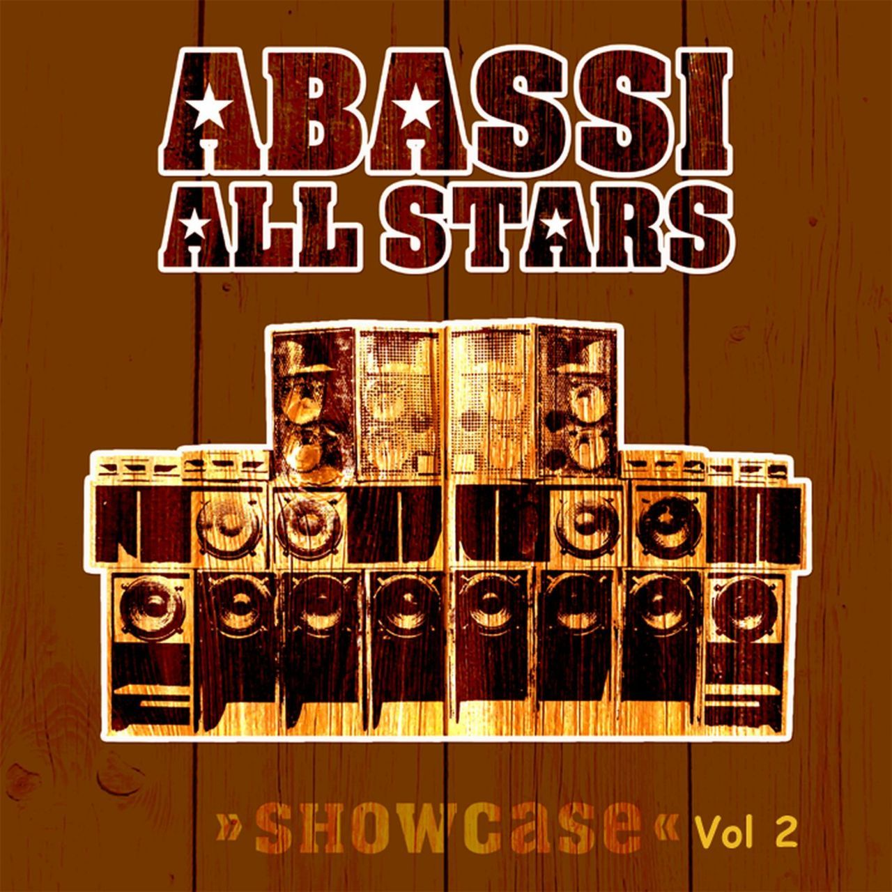 "Abassi All Stars - Showcase Vol 2 - 2012  O segundo volume da compilação ""Showcase"", com vocalistas que passaram pelo projeto Abassi All Stars - que tem como base Neil Perch (Zion Train) e o trio metal Dave Hake (trompete), Bigga (trombone) e Richard Doswell (saxofone and flauta)"" o também chamado ""Zion Train brass section"", artistas consagrados como Tippa Irie, Carlton Livingston, Fitta Warri produzido e mixado por Neil Perch (Zion Train). Lançamento Universal Egg 2012 www.wobblyweb.com"