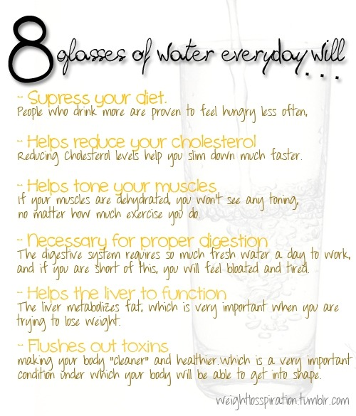 emilyloss:  Reasons to drink more water!!