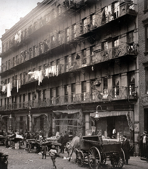 librar-y:  March 1912. Row of tenements, 260 to 268 Elizabeth St., New York.
