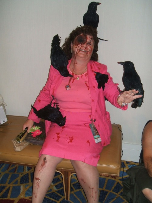 Great costume from The Birds seen at Dragon*con 2010  Photo by Tara Schile