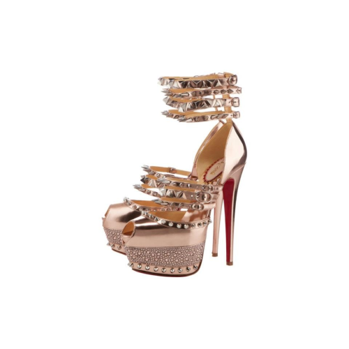 Christian Louboutin Rose Gold Isolde