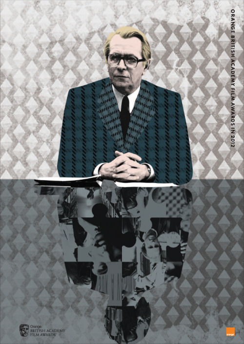 The Tinker Tailor Soldier Spy BAFTA Film Awards brochure cover. Via Slashfilm.