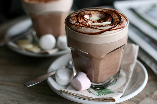 I just love hot chocolate/mocha/cappuccino/latte in these glasses!
