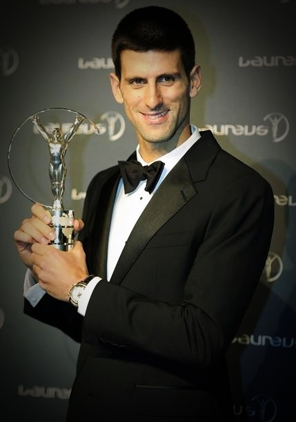 "Nole wins Laureus Sportsman of the Year award! ""Thank you for this great award. I  am beyond words to describe how i feel tonight. Just to be in the same  room with the world's greatest athletes, whom I will allow myself to  call ""LEGENDS of the sport"" is a great honor and privilege.Well,  then, you can imagine how honored  I feel right now to be entitled to  hold this award, and to be called the World's sportsman of the year.  This award means a lot to me, my team, my family, and my fans around the  world.I will use this opportunity to thank the Laureus  Foundation for doing a great job around the world. Sport is indeed an  inspiration and motivation to many of us, the language we all understand  and love. I hope that my example can send a powerful message to  all the kids around the world. I was also a kid who grew up in a poor  country, torn apart with war, kid who dared to dream about becoming the  world's best athlete. And yet, I stand here in front of you tonight,  with this special and dear award, and hope that each kid dares to dream,  and choses this path that I chose. Sport is something that every  society should nurture, and this is what Laureus stands for. I will make  sure on my side that the message is conveyed and that sport stays as  pure as it is today.Thank you for considering me for this award, and for honoring me to take it home with me tonight.""                                                                        -Novak Djokovic"