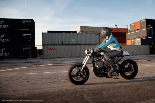 Melanie Phifer on her Brawny Built Sportster | Photo by Mark Kawakami