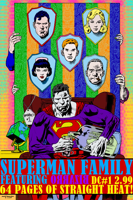 Colorized and typographically futzed with a Kevin Nowlan piece of Superman's funnest enemy.