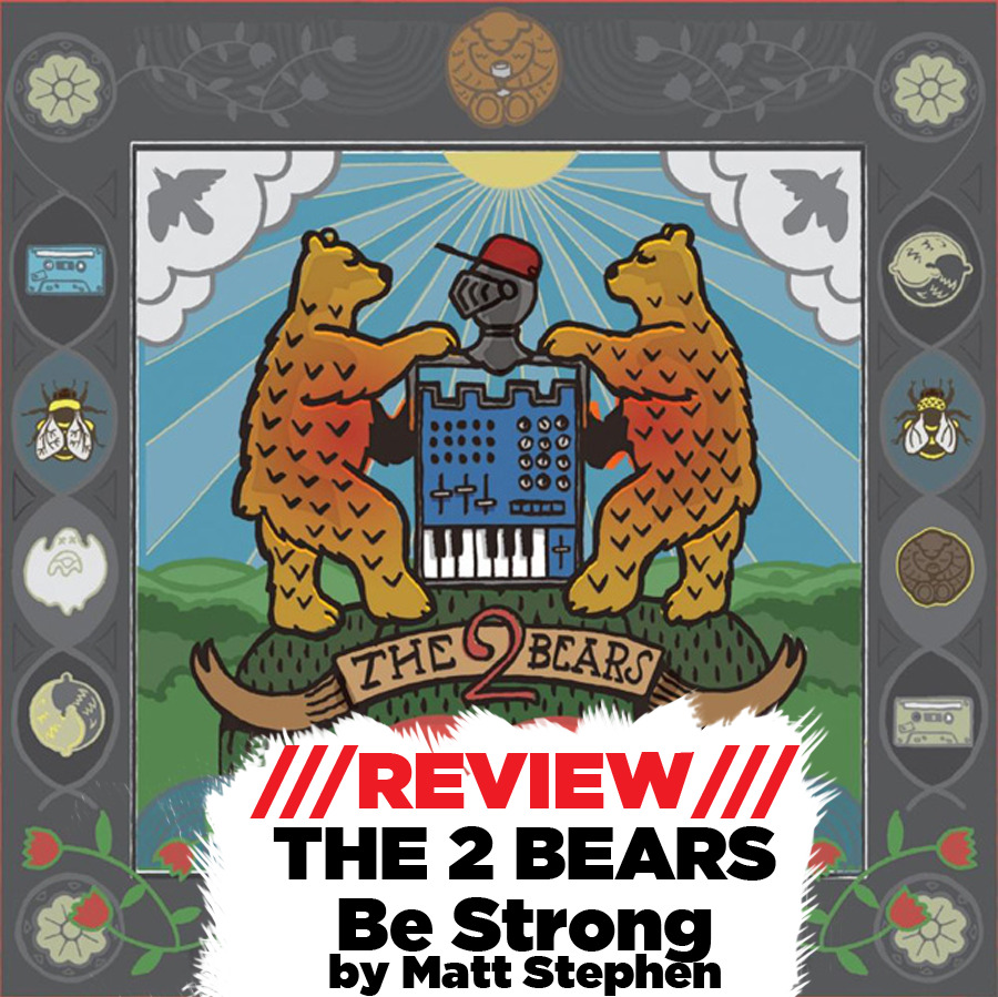 "Be Strong is the debut album from The 2 Bears, an electro group based in London. As you might expect from the side project of a member of Hot Chip, the mellow electro they produce is weird but still quite funky – the album Be Strong is comprised of 12 tracks of bizarre experimental electronica. The opener, ""Birds And Bees"" is a clumsily charming track with brass (which is always a winner with me) tooting over a mixture of xylophones and electronics. There's so many sounds on the track it's hard to identify them all but it works all together to make an almost surf-y vibe. The title track is a bizarre one, nonetheless tuneful and very 90s. It's not the most attention grabbing track but holds its own. ""Bear Hug"" is another weird track, a pitch-lowered voice talking what can only be described as ""shite"" over some keyboards and samples. ""Work"" is the record's lead single but really doesn't hold many similarities to the rest of the tracks. With an instantly memorable piano riff and chorus line, ""We gotta work"" it tones down the weird a good amount. Generic-sounding dance percussion underlays the whole track and somewhat deprives it of a ""TUUUUNE"" announcement. ""Warm & Easy"" is a pretty mellow track with vocals nodding to Damon Albarn's work in Gorillaz, with a cosy, whimsical chorus; it could very well be the soundtrack to a cryptic dream that you might have about your dog owning your house. Or something along those lines.  The second half of the album is more coherent, with a more solid rubric for each song rather than the flitting between the absurd and the conventional track by track, percussively there's very little variation but the electronics are more focused here – a lot more accessible while still showing off the group's indietronica credentials. Tracks like ""Ghosts & Zombies"" and ""Get Together"" are the standouts, with some bouncy basslines and catchy vocals. ""Church"" is another bouncy track to close the album, sticking even closer to tradition, that could be a Hot Chip track. I expected more from a Greco-Roman band featuring Joe Goddard (see his 2011 track ""Gabriel"" for a proper example of what the Hot Chip member can do away from the band), but if you're into this sound in a big way Be Strong is a solid release. With groups like Totally Enormous Extinct Dinosaurs and Drums Of Death as contemporaries, however, The 2 Bears could perform a lot better."