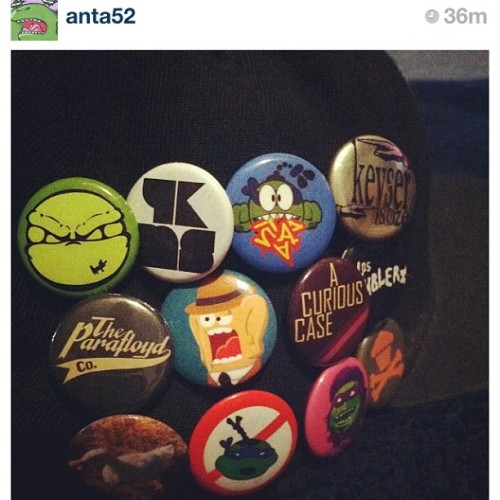 @anta52 pin collection, lookin pretty fly #theparafloydco #pins #buttons #PAFLDCO (Taken with instagram)