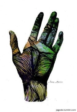 eatsleepdraw:  Hand drawn hand digitally processed in ps.