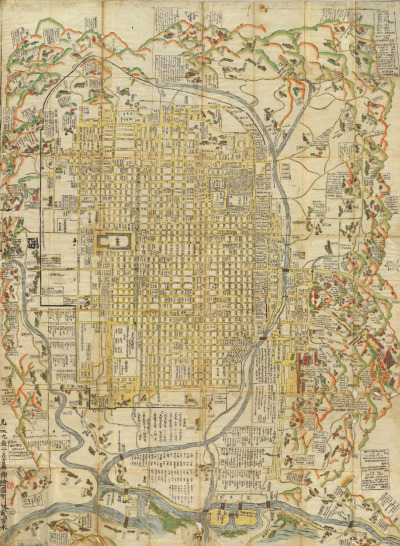 cartographymaps:  Yoshinaga Hayashi, 1717, Kyoto, Japan  pretty. I would like to visit Kyoto and see the Palaces.