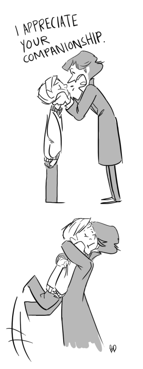 deebzy:  Sherlock attempts to show affection towards others. A+