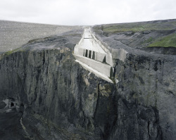 Olaf Otto Becker Concrete Spillway Chute, Kárahnjúkar, 2010 Under The Nordic Light series