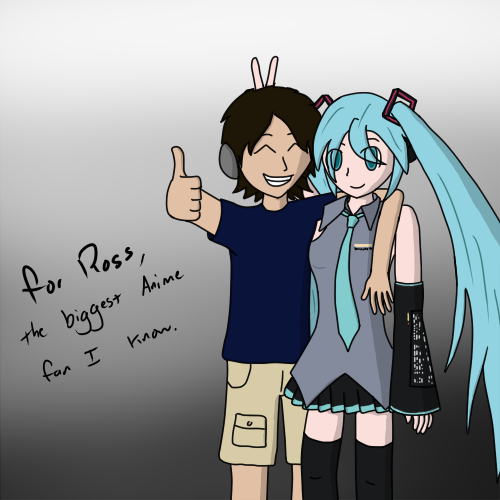I drew a picture for my friend Ross, he's my anime loving friend. The one who got me into anime as much as I am today. I also posted it on Deviantart.