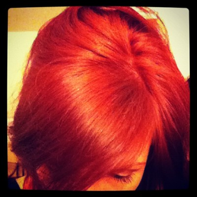Red hair don't care (Taken with instagram)