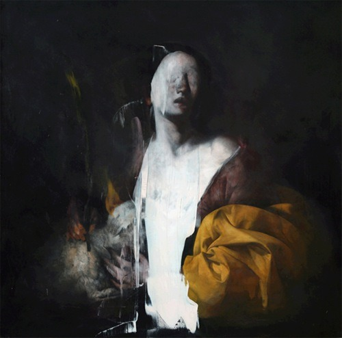 "pinstripesuit:  wizzard890:  andreasmroberts:  Nicola Samori (b. 1977). Italian. Neo-Baroque??  Nicola Samori is fucking incredible. He works out of Italy, and he's managed to nail the style of the Old Masters: his exhibitions contain everything from beautiful Baroque saints to Flemish still lifes — all painted now, in the modern era, in his studio. And that would be amazing in and of itself, but his work is so much more than simple reproduction. See, once he's finished with a painting, or once he's adapted one that's been previously created, he takes a scalpel to it, a spatula, or a square of sandpaper, and begins to peel it apart. He flays painted skin right off his subjects' bones. Sometimes the ""destruction"" of the images asks the audience to think about what, exactly, the painting communicates when it's whole. Other times it adds a strange level of corporeality to religious works, or gives portraits a darkly spiritual dimention they never had before.  He's said in interviews that he views the layers of paint on the canvas as analogous to the muscle and tissue of the human body, and that by wearing it away, he changes the identity of the paintings themselves. Dark and sometimes chilling as it is, I think his work is genuinely brilliant, and he's one of my favorite living artists. (Long story short, here's his website, go check it out!)  reblogging these again because yes  Brazzers."