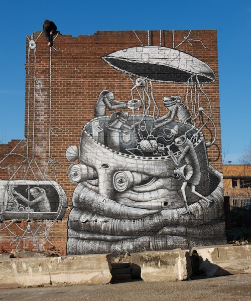 szymon:  street art by Phlegm in Sheffield