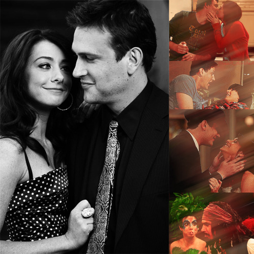 Jason Segel and Alyson Hannigan as Marshall and Lily in How I Met Your Mother