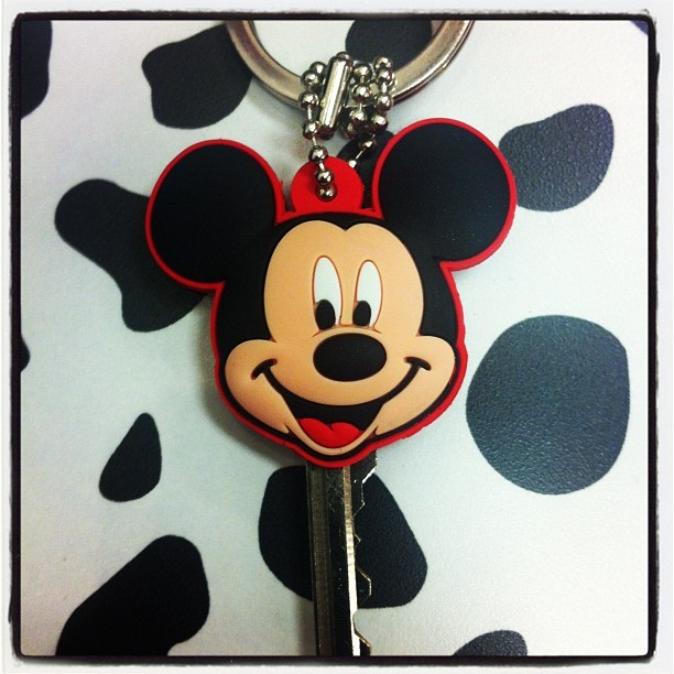 My new key. I love Disney. #mickeymouse #disney #disneyland (Taken with instagram)