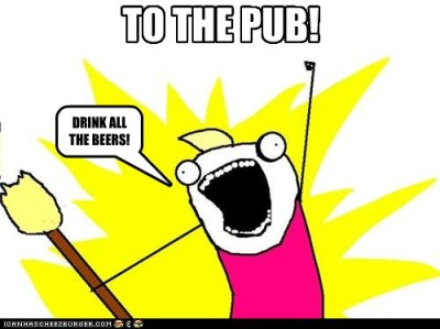 "Yes, my friend made a meme for the BU Pub. I blame the BU Memes page for this. Side note: Finally done with my knight's quest, meaning the knighting ceremony will be held soon! 1domski:  Made meme for BU's awesome pub that's under a castle. ""To the Pub!"" 8)"