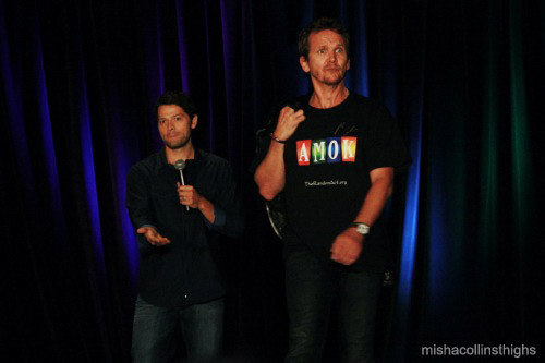 mishacollinsthighs:   Misha and his model