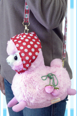 doctorginger:  angelicapretty:  shoptokyo:  CHERRY BABY ALPACA BAG!! WHAT IS THIS?! where have you been all my life, so cute ♥  if somebody gets me this I will marry you  FUDING WANT THIS FOR MAH B-DAY!!