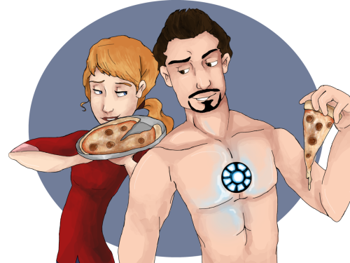 Some rockin Pepperony art! Getting excited for the avengers! art by me!