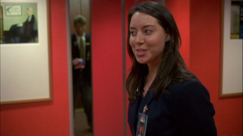 "Aubrey Plaza (Parks and Recreation) as ""NBC Page"", 30 Rock (2006)."