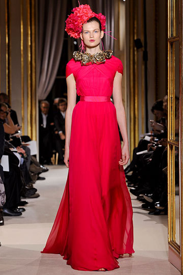 Can't get enough of this color. Giambattista Valli Couture Spring 2012