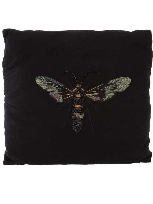 CHATAV ECTABIT EMBROIDERED CASHMERE PILLOW
