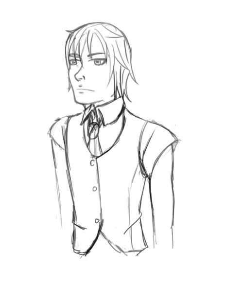 Ashley, either on a job or just normal >< He does have a good fashion sense
