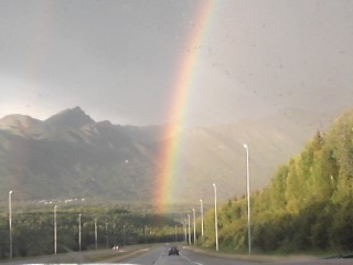 Me: Babe I saw the beautiful rainbow ever in Alaska. :) Boyfriend: I'm dating the most beautiful girl ever! :D Me: Uh? Who? (Thinking) -_- Boyfriend: YOU duhhh LOL :)  Me: Awwwwhhh :')