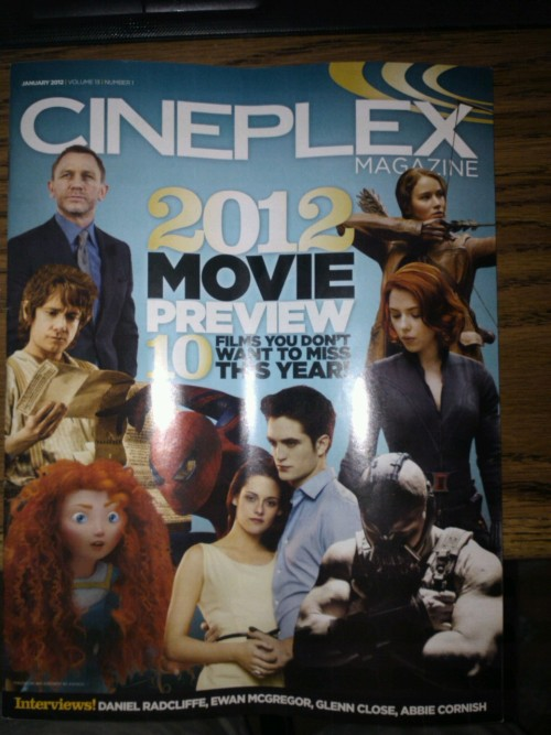 Crappy photo—but! I totally love the fact that Bane appears on the cover instead of Batman, for Batman's movie.