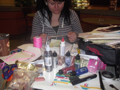 crafting with Jeizombie at Tim Hortons earlier tonight ;D