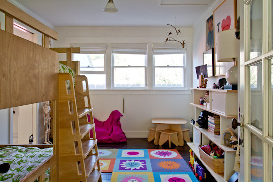 The adorable bedroom of Oscar (2 years)+ Boots (4 years). Soon to be featured on Apartment Therapy. (The sons of Wendy + Gavin Withers)