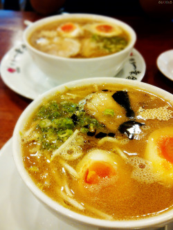 Hakata Ikkousha Ramen. That very famous Ramen in Jakarta. :D Love the soup and chewy noodle. And their egg yolk is cooked to perfection! The place is very crowded, I waited for almost 30mins to get a table, but it's worth the wait after all.