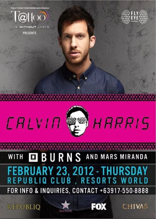 Calvin Harris Live In ManilaRepubliq Club, Resorts World ManilaFebruary 23, 2012