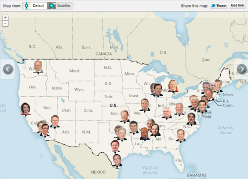 sunfoundation:  Mapping the earmarks  Across the nation, 33 members of Congress have helped  direct more than $300 million in earmarks to dozens of public projects  for work in close proximity to commercial and residential real estate  owned by the lawmakers or their family members.