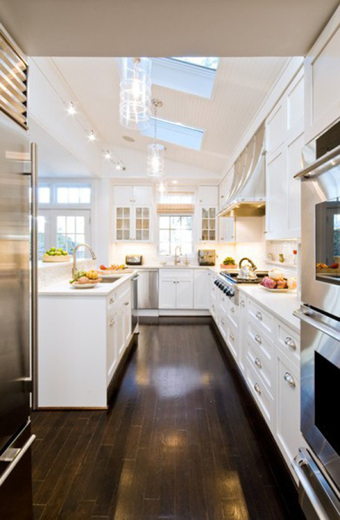 White spacious kitchen.