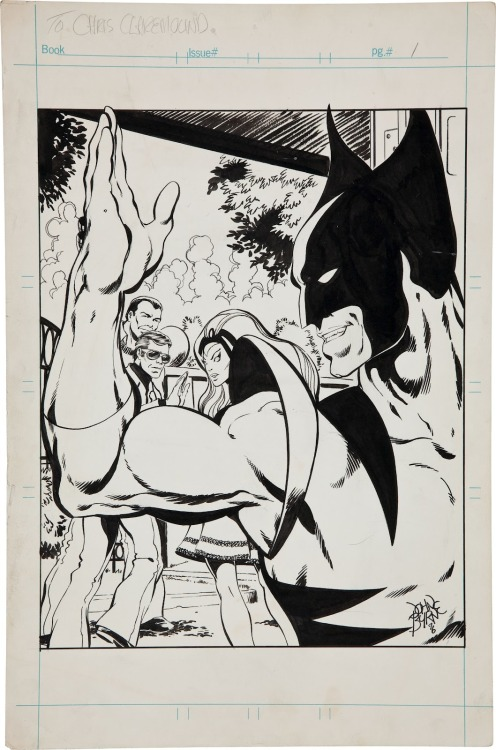 Via Marvel 1980s Blog, unused John Byrne splash page.