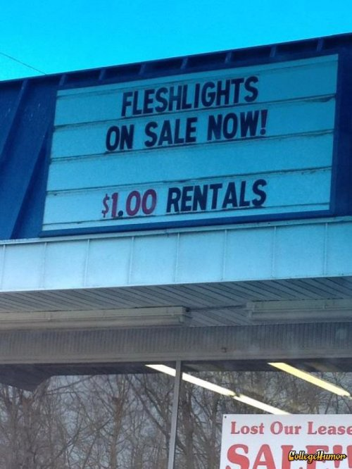 collegehumor:  $1 Fleshlight Rentals It's probably not worth it if you have to tip the cashier $100 to never tell a soul.