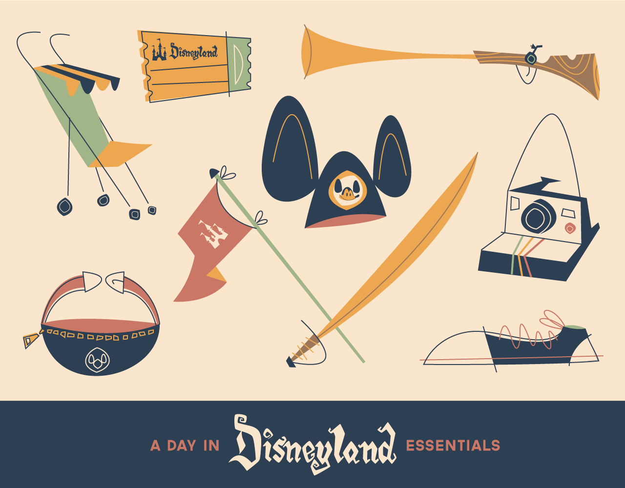 The Essentials of A Day In Disneyland by Rogie King
